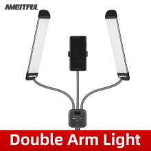AMBITFUL AL 20 3000K 6000K 40W Double Arms Fill LED Light Long Strips LED Light with LCD Screen for Photo Studio Live Broadcast