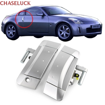 4pcs set outside door handle front rear exterior door handles for hyundai sonata For Nissan 350Z 2003-2009 Left Right Outside Outer Door Handle Front Driver Passenger Exterior Handles Left Drive ONLY Silver