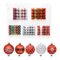 20 PCS 6CM Christmas Balls Box Packing Shatterproof Christmas Tree Pendants Plastic DIY Hanging Large Hanging Ball Ornaments Dec