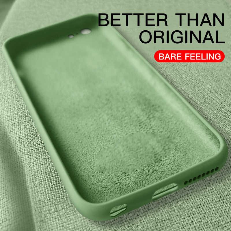 ซิลิโคนโทรศัพท์กรณีสำหรับ iPhone 6 6s 7 8 PLUS สีเดิมสำหรับ iPhone 11 PRO MAX X XR XS กรณี