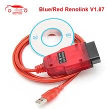 Renolink v1.87 para renault carro obd2 ecu programador airbag redefinir obd 2 obd2 ferramenta de diagnóstico do carro auto ecm uch chave programador ferramenta