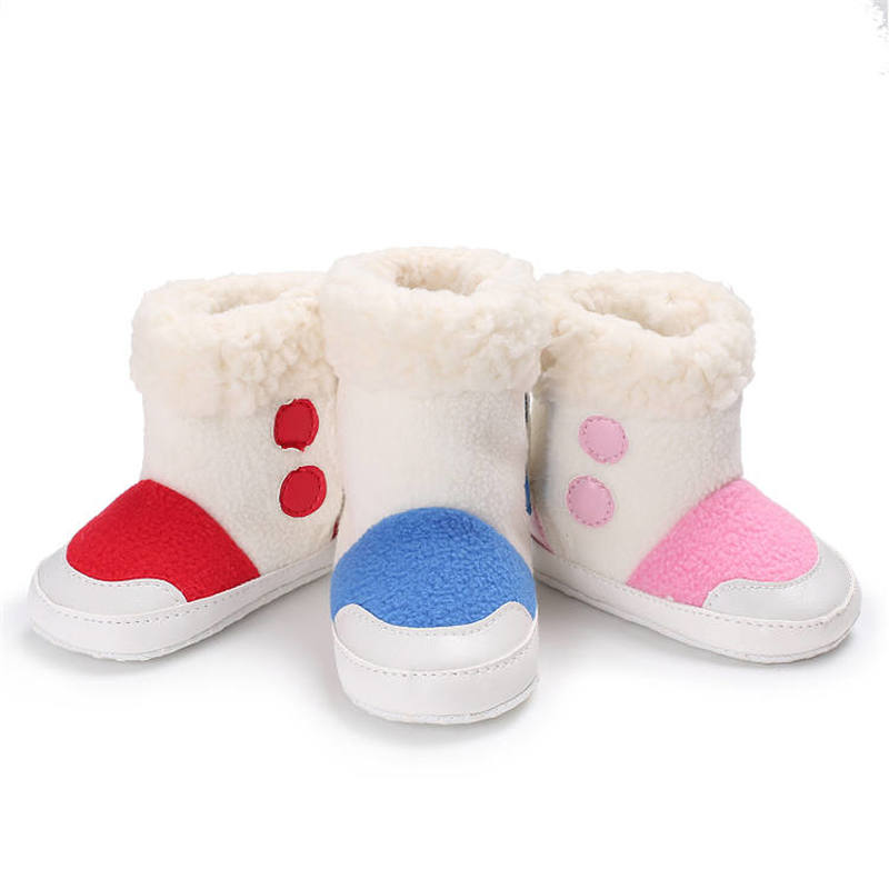 2019 Hot Sell Newborn Baby Shoes Princess Toddler Warm Fluff Soft Sole Anti-slip Goat Boots First Walkers Infant Baby Crib Shoes