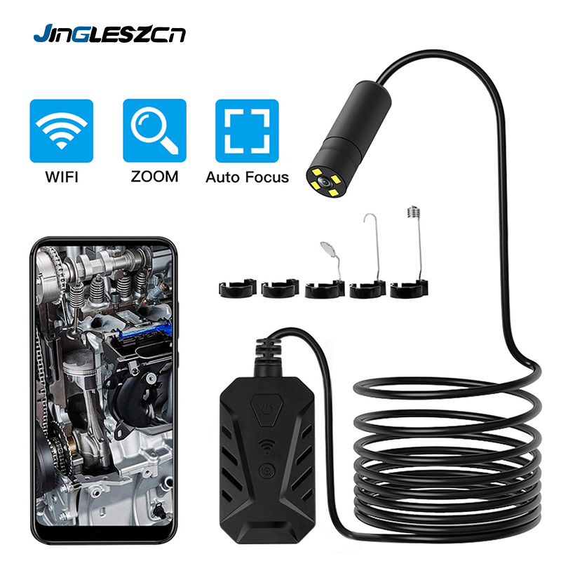 5.0MP Auto Focus WiFi Endoscope Inspection Camera  Waterproof IP68 Flexible Snake Camera 2560*1920P HD For Android IOS Tablet