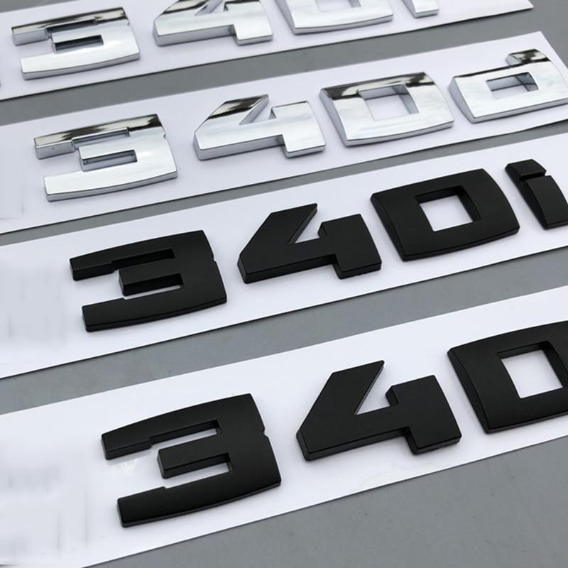 CUSTOM MATTE BLACK 335d REAR BADGE LETTERING 3 SERIES BMW 320d 330d 335d M SPORT