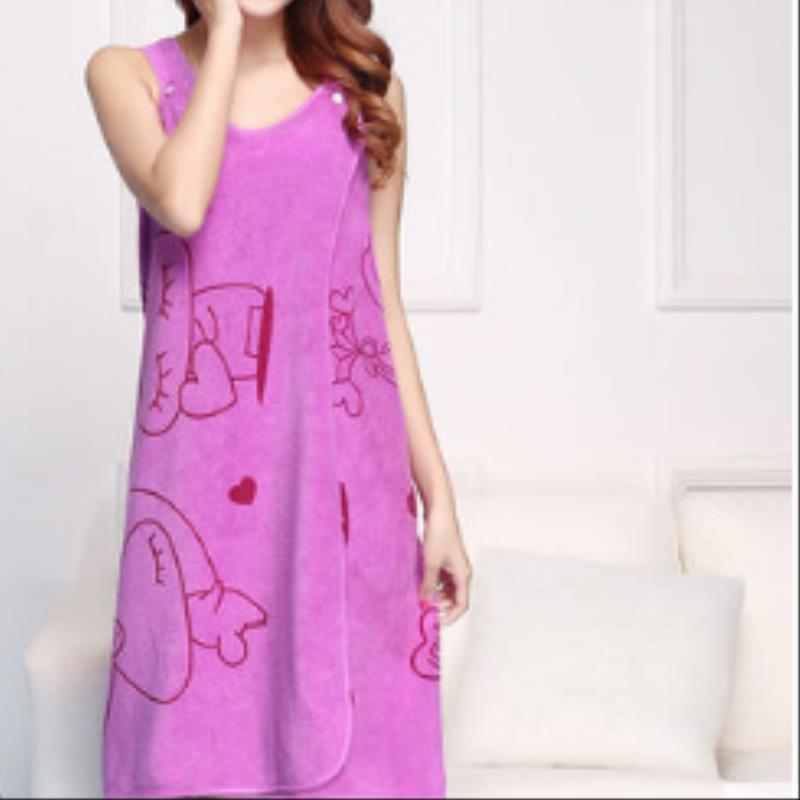 Bath Towel Women's Sexy Korean-style Summer Wearable Thin Adult Korean-style GIRL'S-Simple Bath Wrap Household