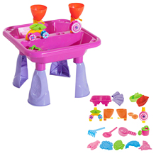 Creative Children Beach Table Sand Play Toys Set Summer Baby Sand Dredging Tools Outdoor Beach Waterwheel Toys Hot Sell
