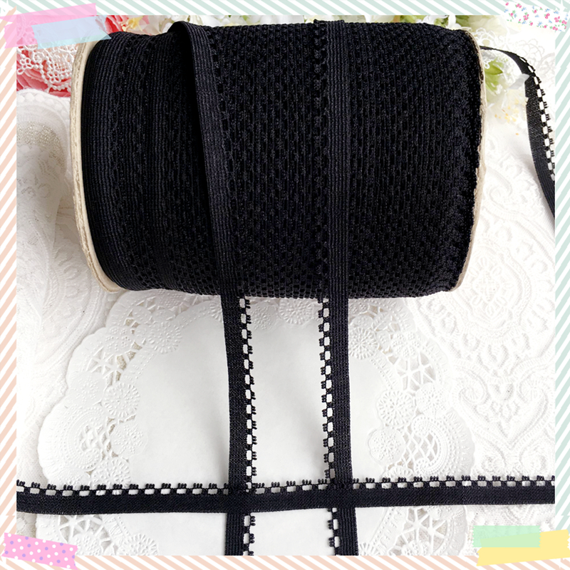 5 yards / Taiwan 1cm black imported without shells narrow lace diy hand baby clothing apparel material necklace