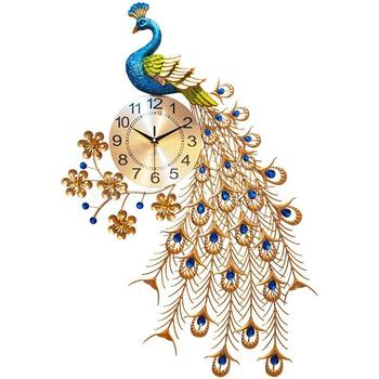 Clock peacock watch living wall watch creative fashion watch room simple atmosphere wall graphics house silent quartz clock 20