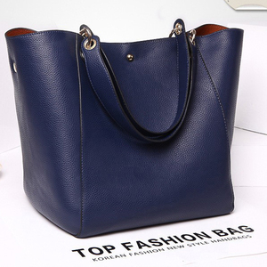 Image 3 - Real Genuine Leather Women Shoulder Bag High Quality Designer Leather Handbag Female Big Tote Ladies Hand Bags for women 2020