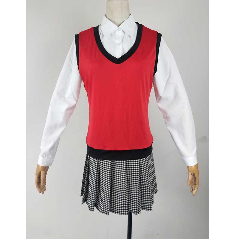 Kakegurui obowiązkowy hazardzista Ikishima Midari przebranie na karnawał Midari dziewczyna peruki i akcesoria JK jednolity strój szkolny uczennica