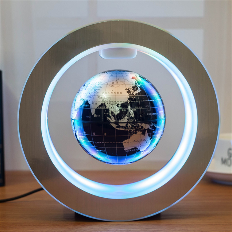 Magnetic Levitation Globe LED Night Light Novelty Unique Home Decoration Special Earth Ornaments Creative Lighting Decor Lampara