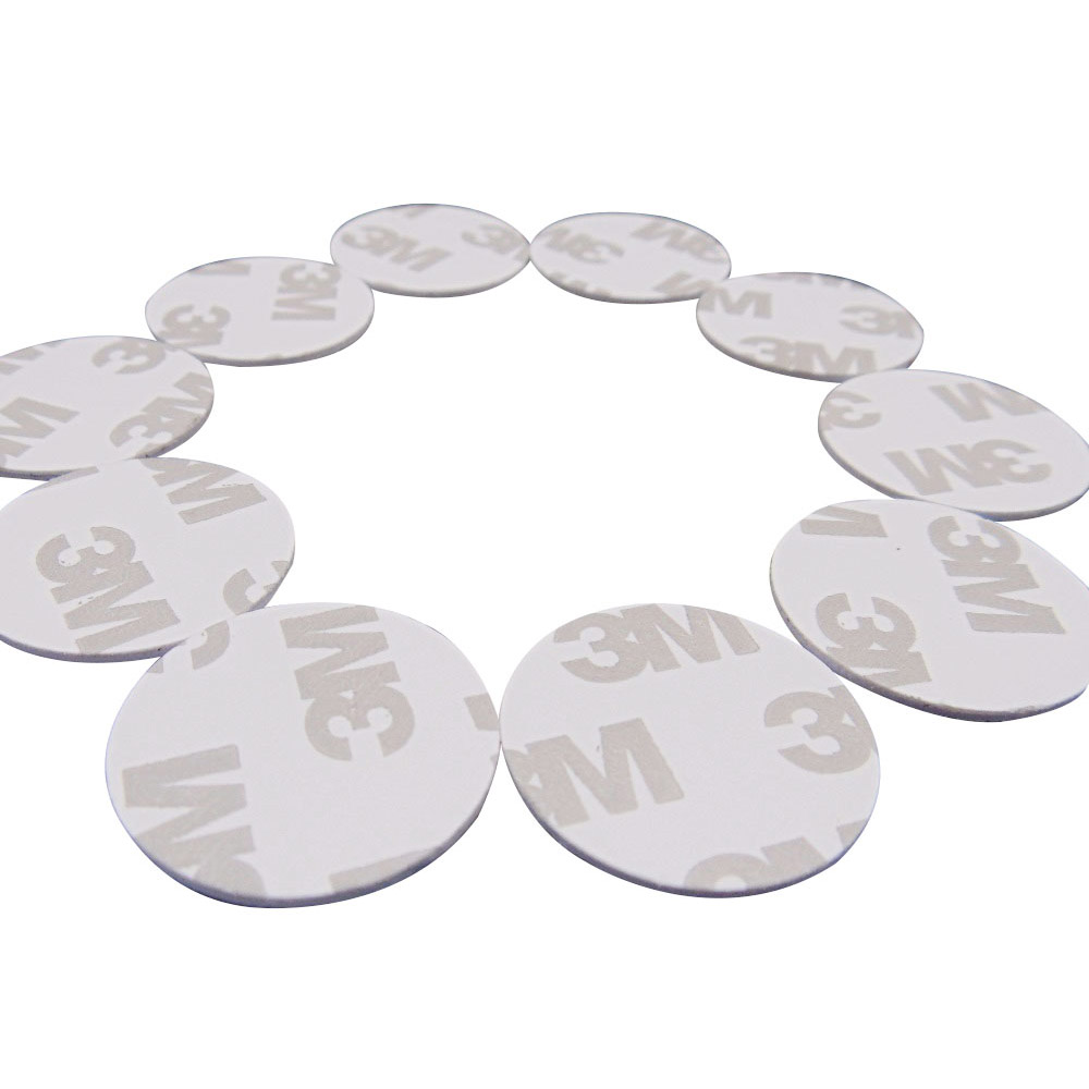 (10PCS/LOT) New Dellon Stickers Smart 3M  FM1108(M1 S50) RFID 13.56Mhz Tags NFC PVC Coin Cards
