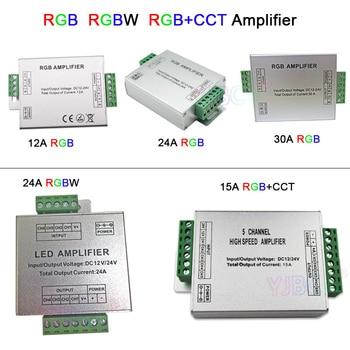 DC12V/24V RGB/RGBW/RGBWW RGB+CCT led Amplifier 12A/15A/24A/30A RGBWC Led Strip Tape Power Repeater controller dc12v 24v rgb rgbw rgbww rgb cct led amplifier 12a 15a 24a 30a rgbwc led strip tape power repeater controller