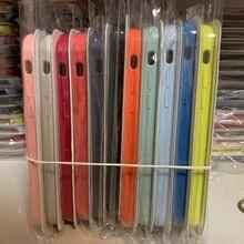 10 Stks/partij Originele 1:1 Siliconen Case Voor I 12 11 Pro Max X Xr Xs Max 8 7 6S 6 Plus Telefoon Cover Met Doos