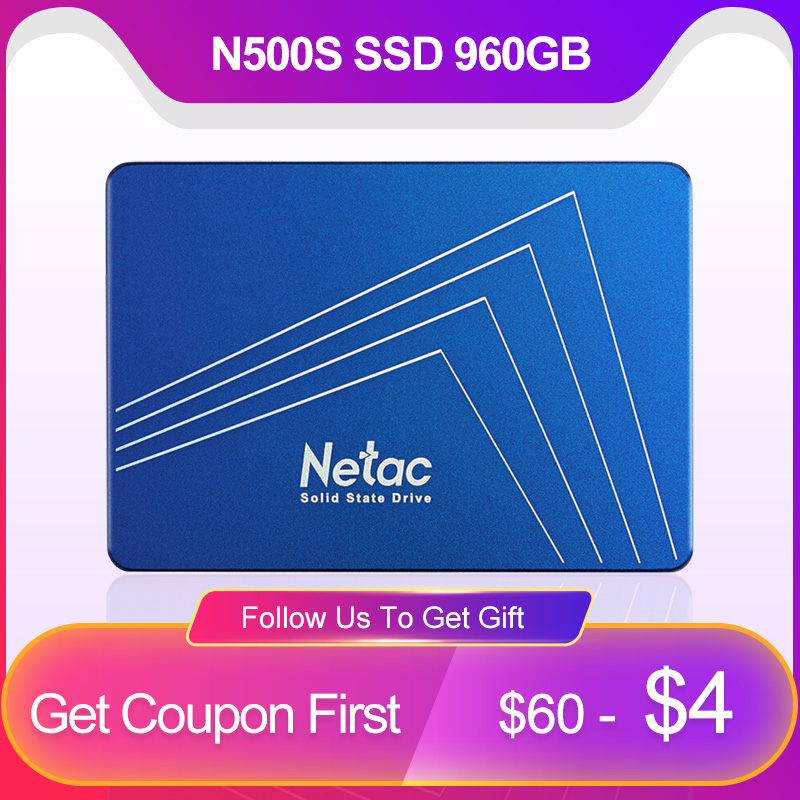 Netac N500S 960GB SSD Hard Drive 2.5 inch SATA III HDD 960 GB Hard Disk SSD Laptop PC Internal Solid State Drive HD For PS3 PS4-in Internal Solid State Drives from Computer & Office    1