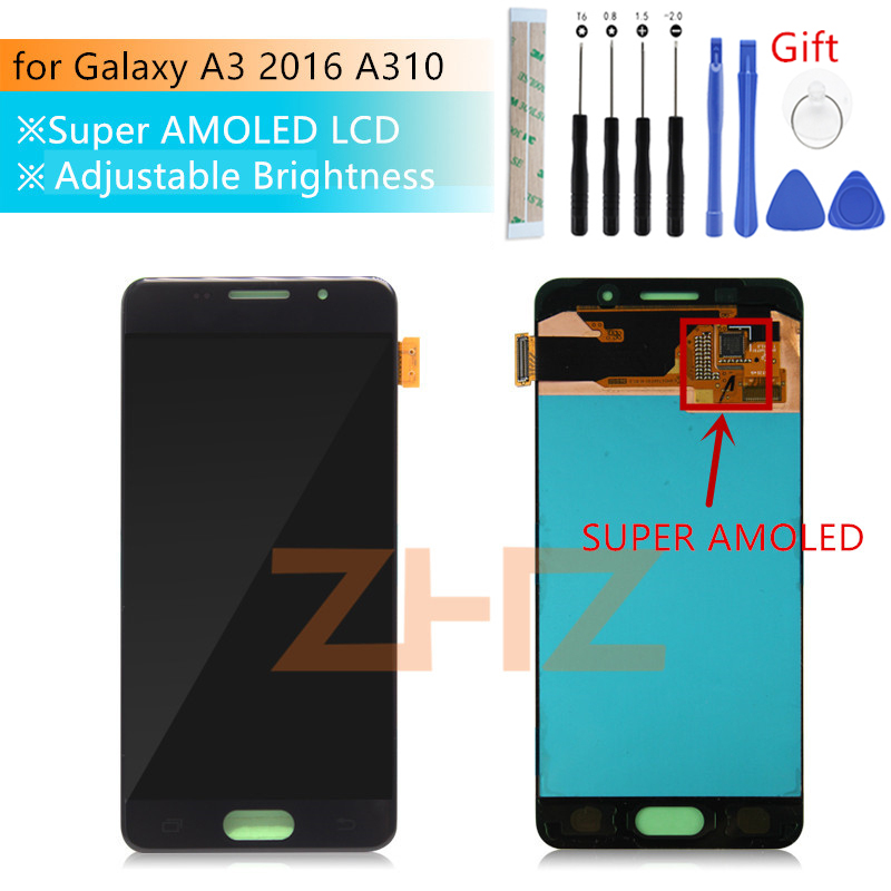Super AMOLED For Samsung Galaxy A3 2016 lcd SM A310F lcd Display Touch Screen Digitizer Assembly