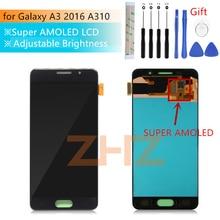 Super AMOLED Für Samsung Galaxy A3 2016 lcd a310 SM A310F lcd Display Touchscreen Digitizer Montage a310f bildschirm reparatur teile