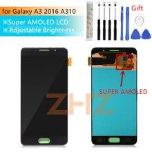 Super AMOLED для Samsung Galaxy A3 2016, ЖК дисплей a310, сенсорный экран с цифровым преобразователем в сборке, запасные части для экрана a310f