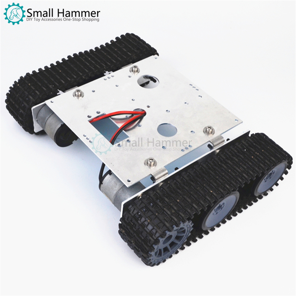 Small hammer free shipping Aluminum Tank Robot Chassis DC 9-12v crawler chassis DIY arduino assembly kit