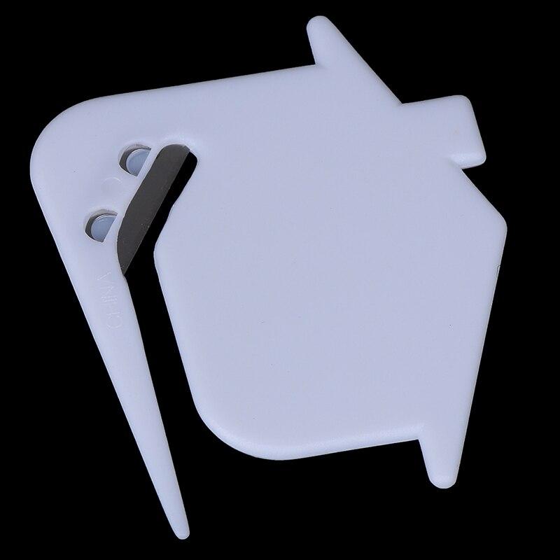 2PCS Plastic Mini Letter Knife Letter Mail Envelope Opener Safety Paper Guarded Cutter Blade Office Equipment Random Color