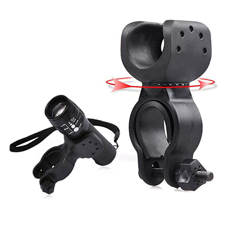 360 ° Rotation FRONT LIGHTS torche Pince Vélo Support vélo support vélo W5H2