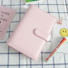 Macaron PU Notebook Planner Organizer binder Diary Schedule book planner diary Loose-leaf binder School supplies A5 A6 cheap DIXIN 78510 Macaron notebook bullet journal Leather Notebook