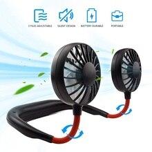 Hands-free Neck Fan Band USB Mini Fan Neck Fan Rechargeable Small Portable Sports Fan light Usb Desk Hand Air Conditioner cooler