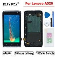 Para lenovo a526 lcd screen display toque digitador assembléia substituição ferramentas gratuitas|LCDs de celular|Telefonia e Comunicação -