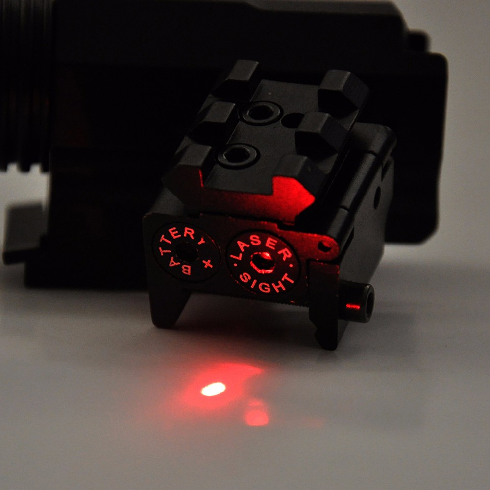 Hot High Quality Adjustable Red Laser Sight with 20mm Rail Mount Fit for Glock 17 19 Pistol Guns Glock Hunting Accessory-5