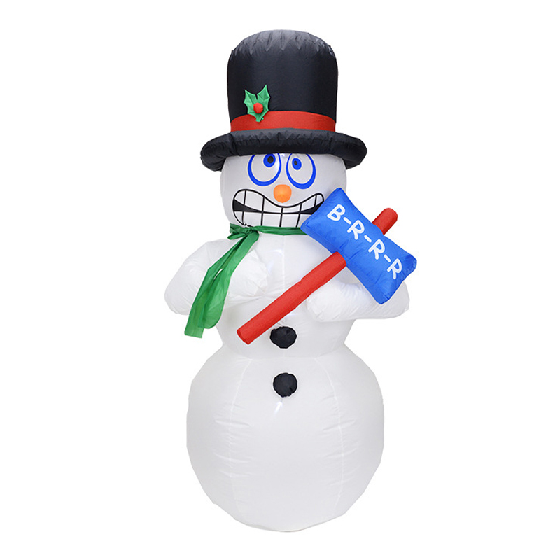 180cm Giant Inflatable Jitter Snowman Blows Up Fancy Toys Santa Claus Christmas Gifts Party Decoration Festive Event Stage Props