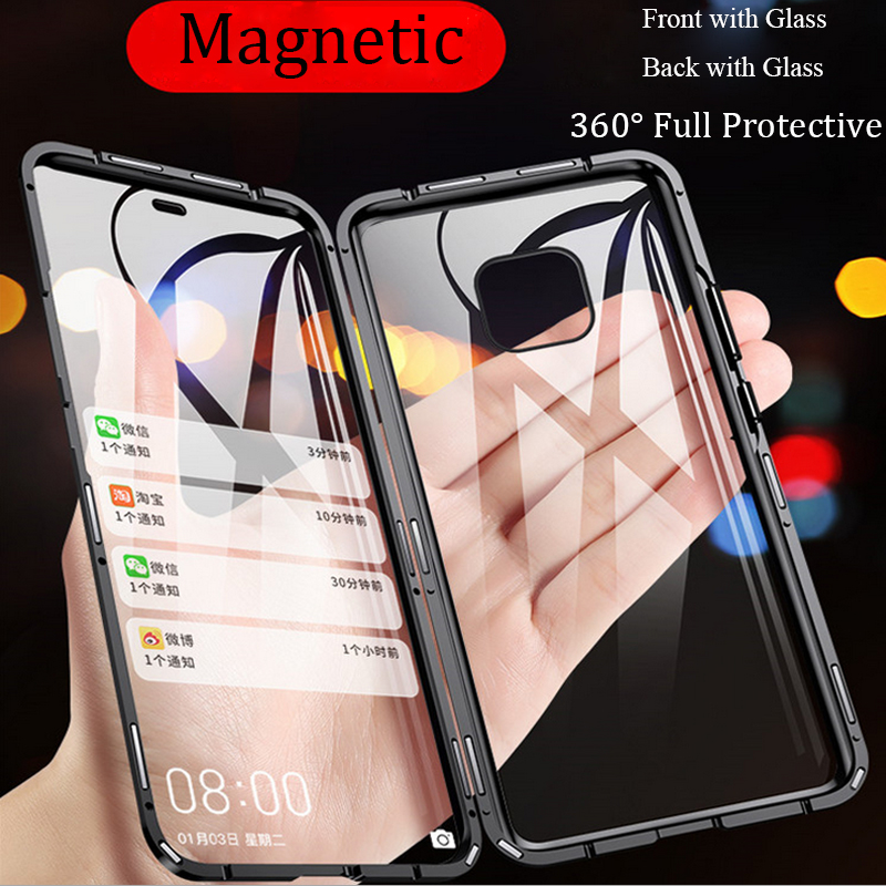 For Huawei P30 Pro Magnetic Case double-sided Tempered Glass Case for Huawei P Smart Z Y9 Honor play 10 lite v10 8X MAX nova 4 3 image