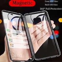 Para Huawei P30 Pro funda magnética de vidrio templado de doble cara para Huawei P Smart Z Y9 Honor play 10 lite v10 8X MAX nova 4 3