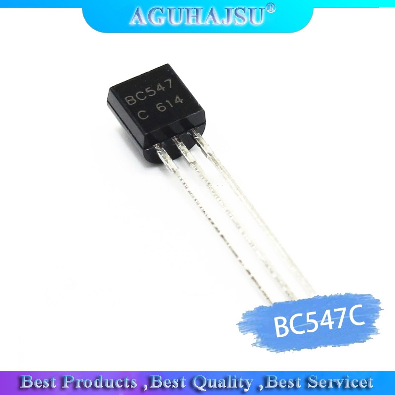 100PCS BC547C TO-92 BC547 TO92 547C New Low Power 0.1A 45V