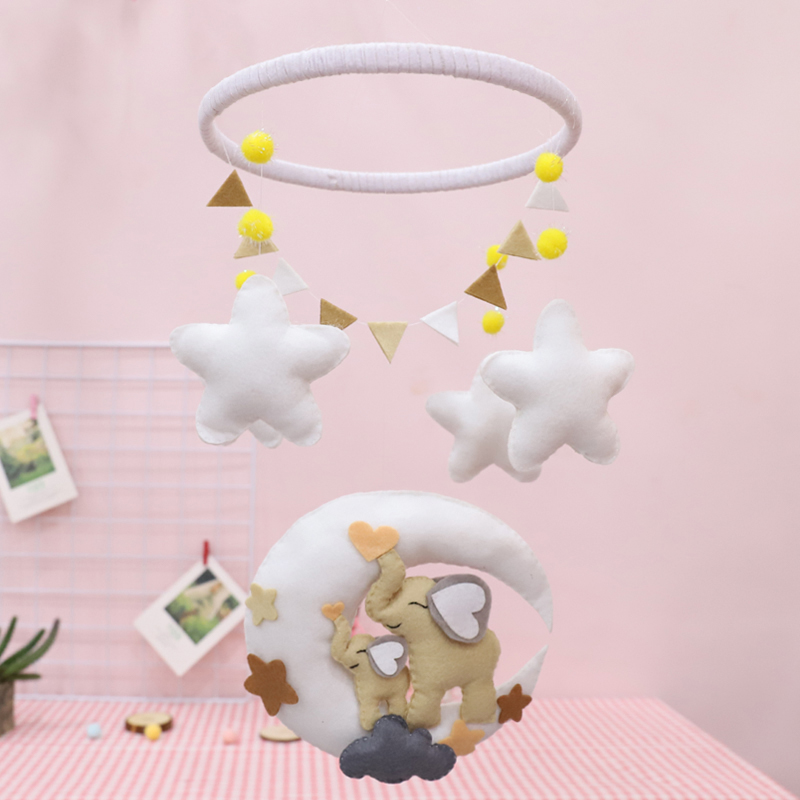 Meian Unfinished Felt DIY Craft Baby Room Handmade Fabric Elephants Christmas Kids Room Wall Decorations