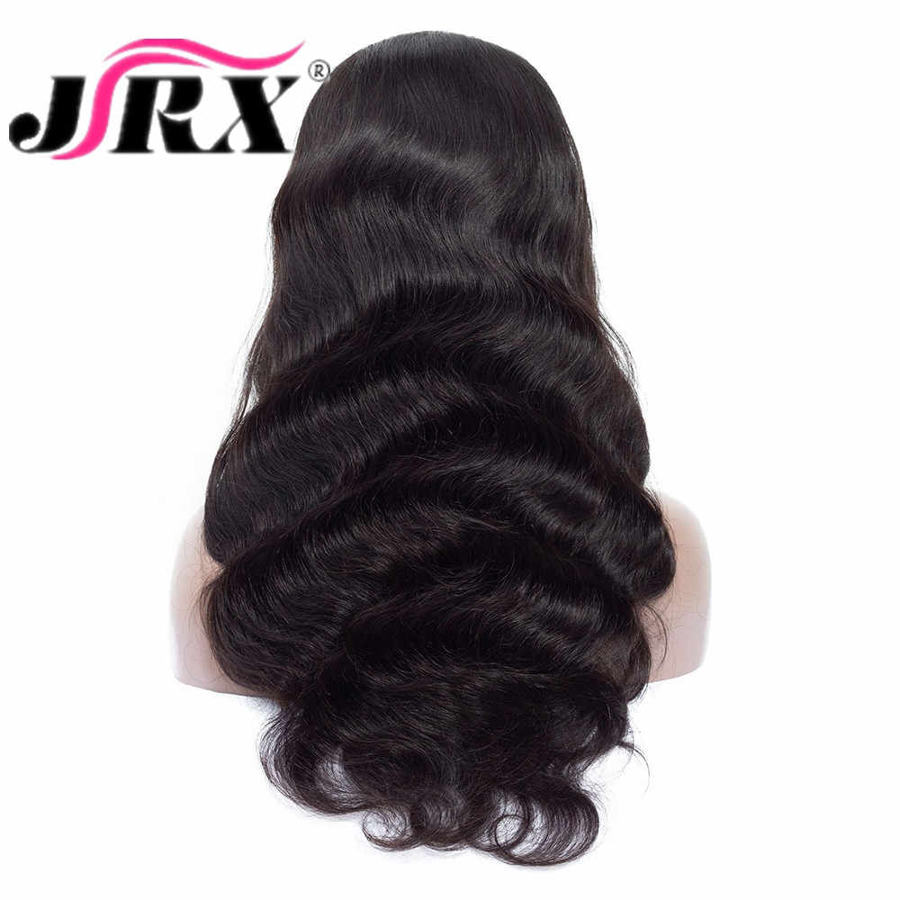 JRX Hair Body Wave Full Lace Wig With Baby Hair Natural Color Brazilian Remy Virgin Human Hair Pre Plucked 150% Density Wigs