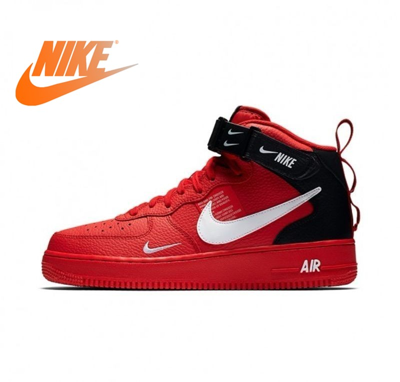 Original Authentic Nike Air Force 1 Men's Skateboard Shoes Air Cushion 2019 New Outdoor Sports Shoes Durable Fashion 804609