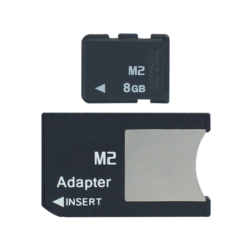 Promotion!M2 Card 8GB M2 Memory Card 1GB 2GB 4GB  Memory Stick Micro With Adapter MS PRO DUO For Camera Phone M2 Memory Card 8GB