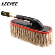 LEEPEE سيارة فرشاة غسيل جهاز إزالة الغبار فرشاة الألياف مكنسة الدورية ممسحة تصغير مقبض طويل أدوات تنظيف السيارات اكسسوارات السيارات