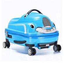 3d Детский чемодан автомобильный Дорожный на колесиках можно