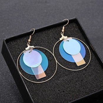 Brincos Para As Mulheres Brinco Fashion Statement Earrings 2019 Temperament Ladies Colorful Sequin Ring Modern Jewelry Gift