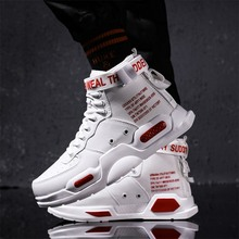 Unisex High Top Sports Skateboarding Shoes Women High Quality Lace-up Buckle Strap Gym Walking Shoe Men Non-slip Casual Sneakers