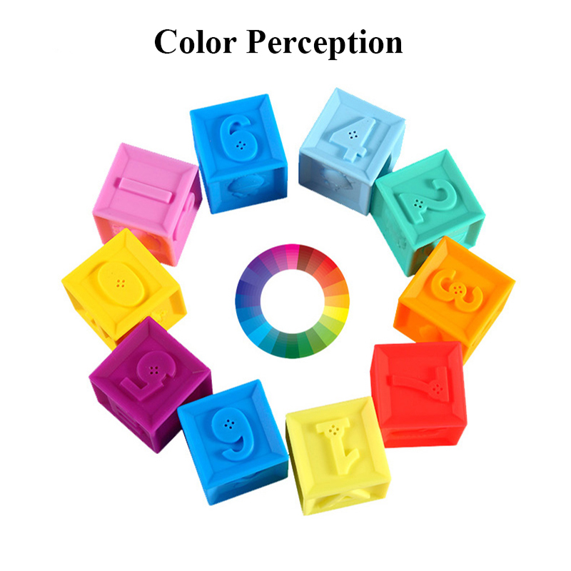 Image 4 - Silicone Blocks Baby Toys 100% Food Grade Teether Safe And Eatable Toys Cognitive Training For Infant Gift    -