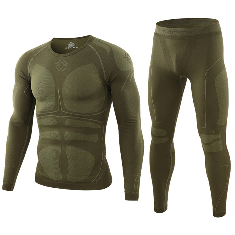 Winter New Quality Thermal Underwear Sets Men Brand Training Wear Dry Anti-microbial Stretch Men's Thermo Underwear Male Warm