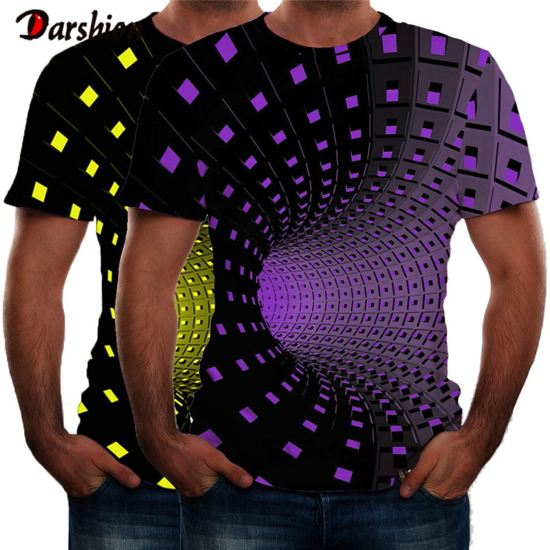 Summer Hot Sale Men's O-Neck Short Sleeves Clothing Colorful Pattern 3D Printed T Shirt Large Size Top Tees Men T-shirt Plus 4XL