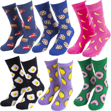 Funny Cute Cartoon socks Fruits Banana Avocado Lemon Egg Cookie Donuts fries Foo