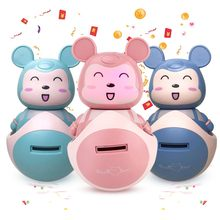 3d Bear Cartoon Figures Automatic Piggy Bank Children Kawaii Thief Money Box Hucha Saving Coin Cent Penny Alcancia Baby Toys(China)