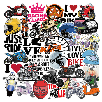 50 PCS Racing Car Stickers Graffiti JDM Modification Waterproof Sticker for Motorcycle Bicycle Helmet Motor Suitcase Laptop - discount item  34% OFF Classic Toys