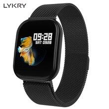 LYKRY X16 Full Touch Screen Smart Watch Heart Rate Blood Pressure Monitor IP67 Waterproof Sport Fitness Trakcer Watches PK B57