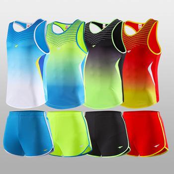 Męskie damskie koszulki piłkarskie zestawy profesjonalne maraton bieganie kamizelka sportowa + spodenki Fitness Gym track koszulki piłkarskie topy elastyczne tanie i dobre opinie JUNJIAN WOMEN POLIESTER Dobrze pasuje do rozmiaru wybierz swój normalny rozmiar