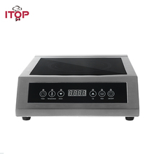 ITOP 3500W Induction Cooker High Power Glass-ceramic Touch Control Energy-Saving Cooking Commercial  Induction Cooker EU Plug цена и фото